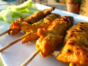 malaysian chicken satay picture