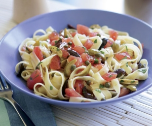 fettuccine with tomatoes capers olives picture