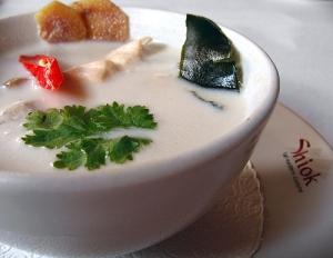 tom kha gai thai coconut soup  picture
