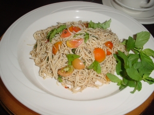 angel hair pasta with italian touch picture