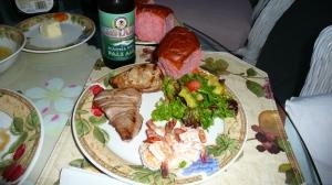 ono, shrimp & ahi w/ a salad picture