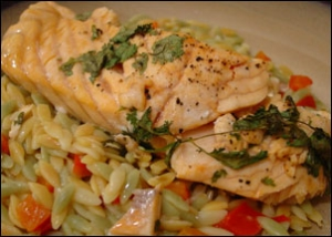 lime cilantro salmon with sherry brandy sauce  picture