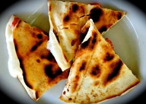 chicken and apricot  quesadillas picture