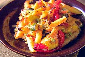 baked penne with roasted vegetables picture