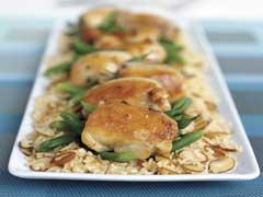 30-minute almond chicken picture