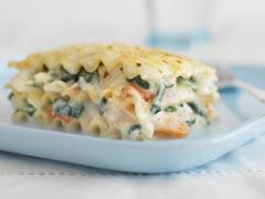 baked seafood lasagna picture