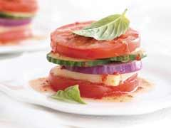 garden vegetable salad stacker picture