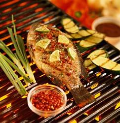 whole fish open fire grilled (bbq) picture
