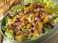peanut-mandarin chicken salad picture