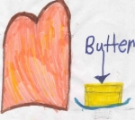 butter bread picture