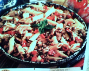 spicy penne with sausage picture