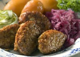 frikadeller (danish meatballs or danish burgers) i picture