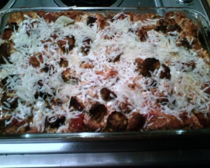 italian sausage baked lasagna picture