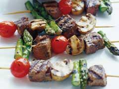 sizzling beef & vegetable kabobs picture