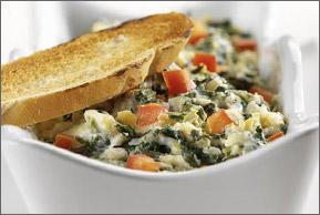 baked spinach artichoke yogurt dip picture