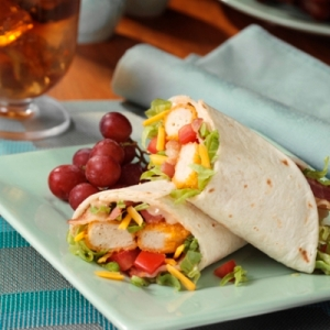 bbq-ranch chicken and bacon wrap picture