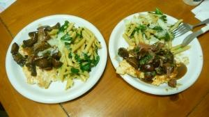 chicken saltimbocca & spinach pasta picture