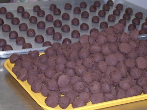 chocolate coconut balls picture