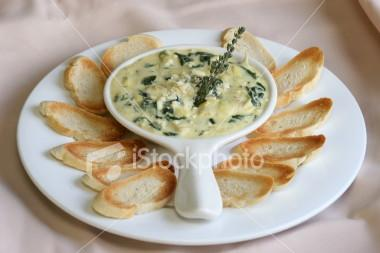 spinach yogurt dip picture