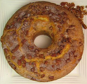 caramelized apple pecan coffee cake picture