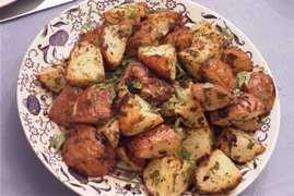 roasted red potatoes with dill picture