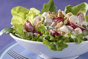 turkey salad with cherries and walnuts    picture
