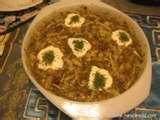 ash reshteh soup (famous persian  one meal soup) picture
