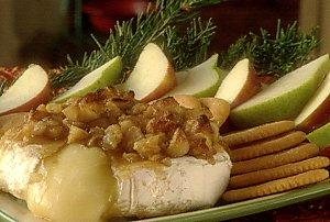 sugar and nut glazed brie picture