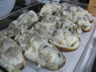 twice baked stuffed meltey meaty potatoes picture