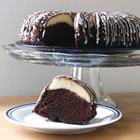 Ribboned Fudge Cake picture