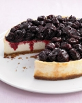 light cherry cheesecake picture