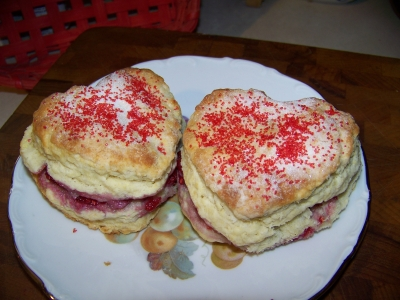 valentine raspberry scones picture