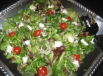 salad aux herbs with goat cheese picture
