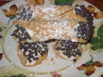 italian cannolis with chocolate chip-ricotta filling picture