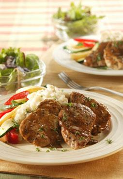 Pork Medallions with  Chili-Maple Sauce picture