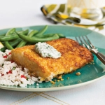 Cornflake-Crusted Halibut with Chile-Cilantro Aioli picture