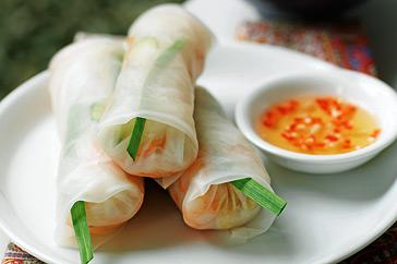 Goi cuon (prawn rice-paper rolls) picture