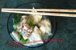 rice noodles soup with steamed dumplings (siomay) picture