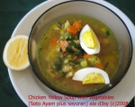 Yellow Chicken Soup with vegetables (Soto Ayam plus sayuran) picture