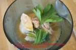Thin Rice Noodles Soup with Tofu Steamed Dumplings picture