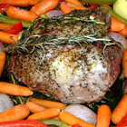roast leg of lamb picture