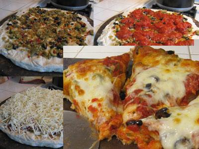 Puffy Crusted Olive Pizza picture
