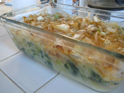 Improv Spinach and Leek Gratin picture