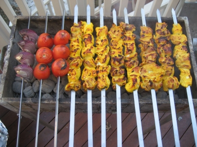 griled chicken kabob picture