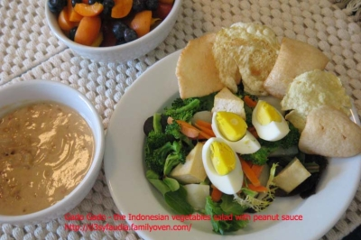 The Indonesian vegetable salad with peanut sauce - Gado Gado picture