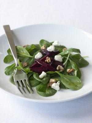 Roasted Beet Salad with Goat Cheese and Pomegranate Vinaigrette picture