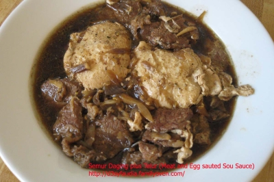Meat and Egg sauted with soy sauce (Semur daging) picture