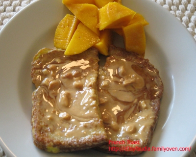 French Toast serve with Peanut Butter picture