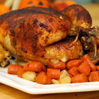roast sticky chicken-rotisserie style picture