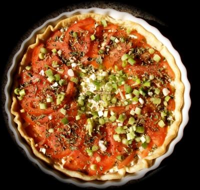 Fresh Tomato Cheese Pie picture